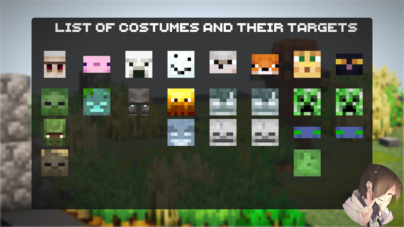 List of costumes and their target