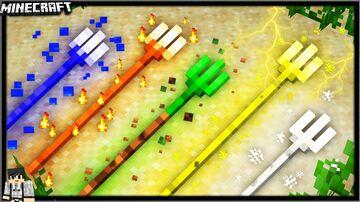 ELEMENTAL TRIDENTS (9 NEW TRIDENTS) - JohnPaulInso Minecraft Data Pack