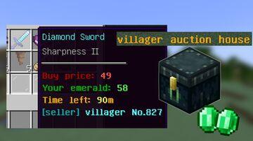 Villager Auction House Minecraft Data Pack