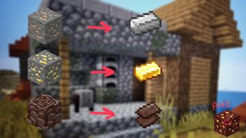 Auto Smelted Ores Minecraft Data Pack
