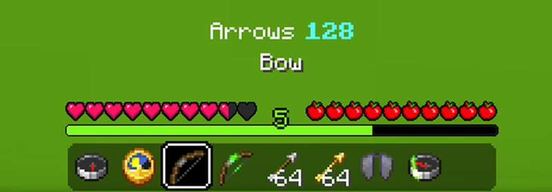 normal bow, arrow count