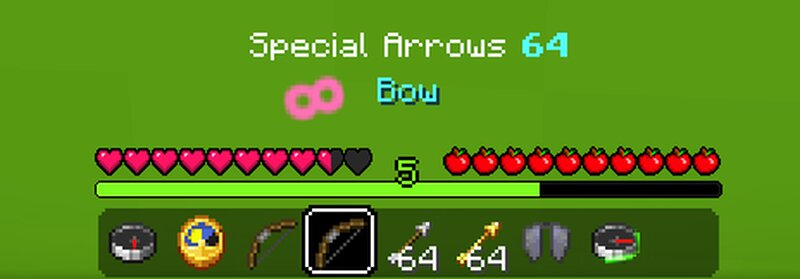 infinity bow, special arrow count