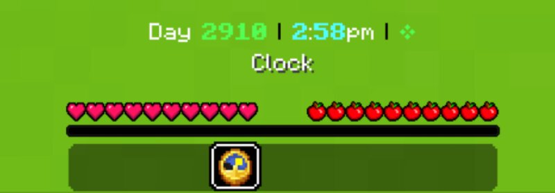 clock -- day, hours, villager worktime