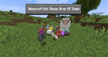 Minecraft But Sheep Drop OP Items Minecraft Data Pack