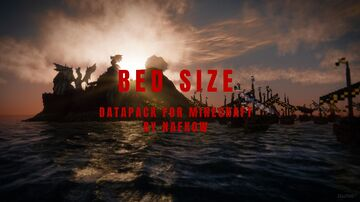 Bed Size Minecraft Data Pack