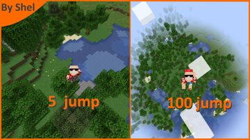 minecraft but when I jump I go higher and higher Minecraft Data Pack