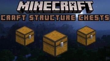 Minecraft but you can craft structure chests! (Just loot, not whole structure) Minecraft Data Pack