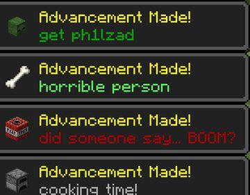 advancements+ 2.0 Minecraft Data Pack