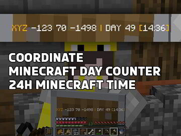 Day Counter Updated   With Coords and 24H Time! Minecraft Data Pack