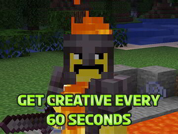 Minecraft but you get Creative Gamemode for 5 Second Every 60 Second Survival Minecraft Data Pack