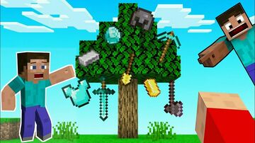 Minecraft but leaves are OP Minecraft Data Pack