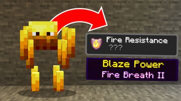 Minecraft, But Mobs Give OP Powers... Minecraft Data Pack