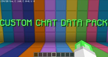 CUSTOM CHAT DATA PACK Minecraft Data Pack