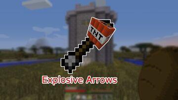 Minecraft But Arrows Are Explosivwe Minecraft Data Pack