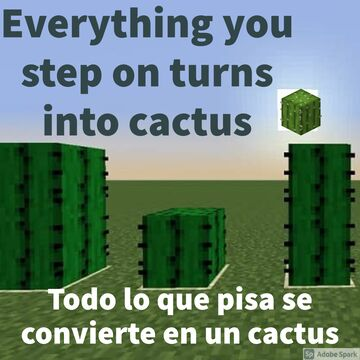 Cactus-Everything you step on turns into cactus Minecraft Data Pack