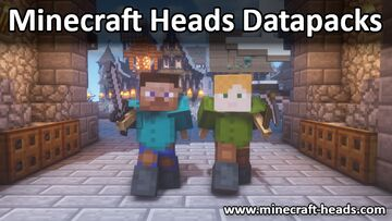 Moveable Statue: Steve + Alex Minecraft Data Pack