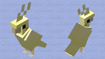 Lutino Cockatiel Minecraft Mob Skin