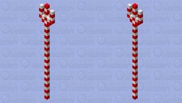 Candy cane staff Minecraft Mob Skin