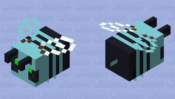 Diamond bee Minecraft Mob Skin