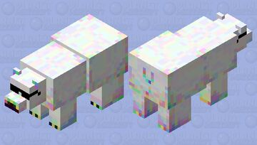 Polar bear with YEET scale amplified by 200% and inverted through a coolness reconfig matrix with a spectra reconstruction of 150% Minecraft Mob Skin