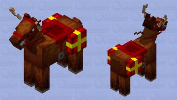 Reindeer with present Minecraft Mob Skin