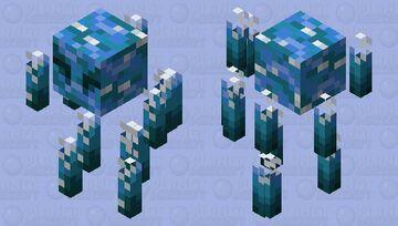 Water Elemental Blaze Minecraft Mob Skin