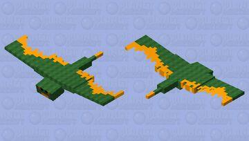 Fiery Dragon Minecraft Mob Skin