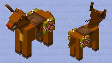 Do you wanna ride a reindeer? Minecraft Mob Skin