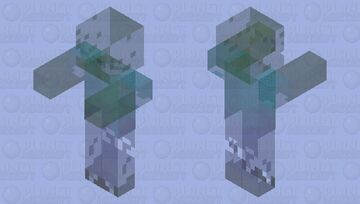 Cloaked Zombie: (Making Minecraft A Little Harder) -- Covert Operations Series Minecraft Mob Skin