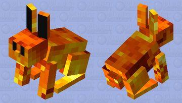 fire rabbit Minecraft Mob Skin