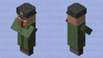 Soviet Ushanka Villager Minecraft Mob Skin