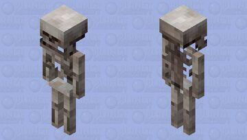 semi realistic skeleton Minecraft Mob Skin