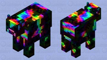 The mystical rainbow cow Minecraft Mob Skin