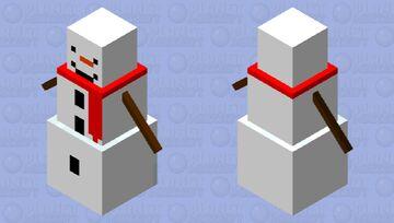 Just a cute snowman :3 Minecraft Mob Skin