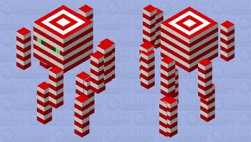 Candy Cane Blaze Minecraft Mob Skin