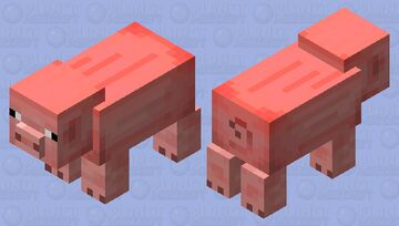 Sunburnt pig Minecraft Mob Skin