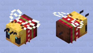 Christmas Bee Minecraft Mob Skin