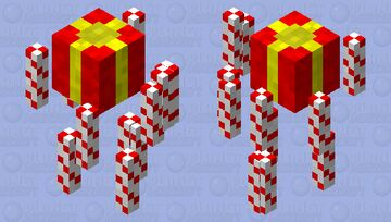 Candy cane and present Blaze skin Minecraft Mob Skin