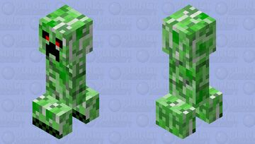 Revenge-styled Creeper Minecraft Mob Skin