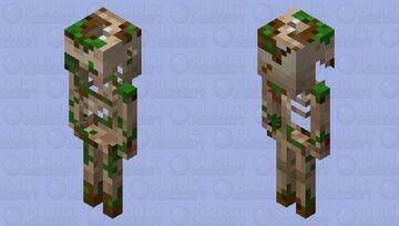Dug Up Skeleton Minecraft Mob Skin
