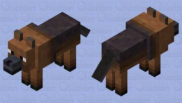 German Shepard: Wolf texture Minecraft Mob Skin