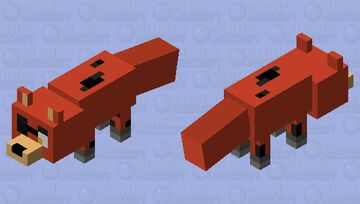 Badly Made Foxy Minecraft Mob Skin