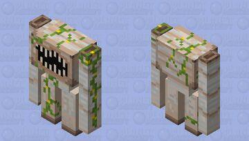 Creepy as hekk iron golem Minecraft Mob Skin