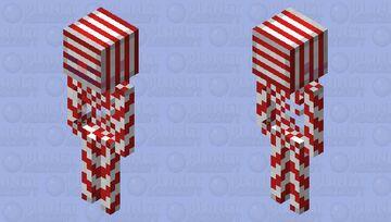 Candy cane skeleton Minecraft Mob Skin
