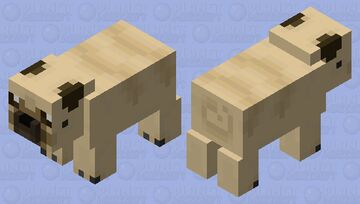 Pig Pug Minecraft Mob Skin