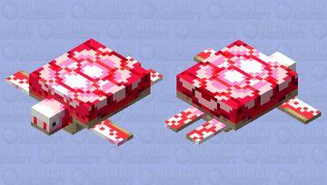 CandyCane Turtle Minecraft Mob Skin
