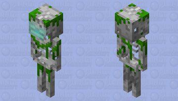 Drowned Skeleton Minecraft Mob Skin