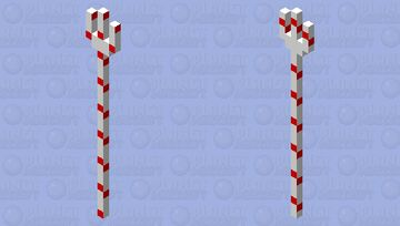 Candy Cane Trident (Because I can?) Minecraft Mob Skin