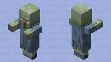 Frozen zombie villager Minecraft Mob Skin