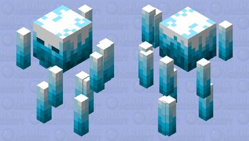Ice Blaze (Blizz) Minecraft Mob Skin
